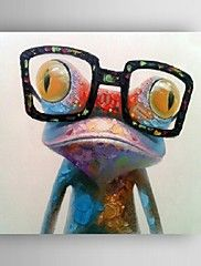 Hand Painted Oil Painting Animal Pop Art Happy Frog With Glasses On Canvas Wall Art Modern Oil Painting, Oil Painting On Canvas, Diy Painting, Painting Prints, China Painting, Art Prints, Animal Prints, Canvas Prints, Abstract Oil