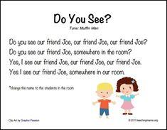 Kindergarten Names, Preschool Names, Name Activities, Preschool Music, Bears Preschool, Kindergarten Calendar, Preschool Science, Therapy Activities, Classroom Activities