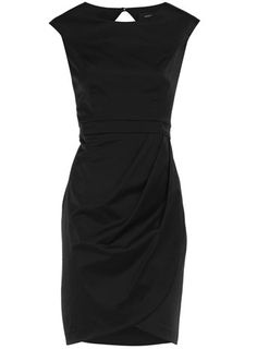 Black Satin Wrap Dress.. very classy  $69  www.dorothyperkins.com