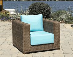 Patio Wicker Chair | South Beach via @wickerparadise #chair #patio #wicker #outdoor www.wickerparadise.com