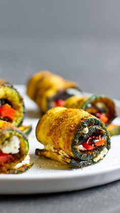 These little appetizers prove that big things do come in tiny packages. Not only are they oozing with creamy goat cheese and peppers, they're also coated in an abundance of spices and herbs to ensure a scrumptious kick-off to your cookout.  Get the recipe at edibleperspective.com.   - Redbook.com