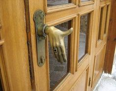 Creepy, cool doorknob!!