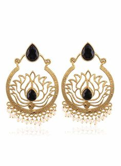 Red & Gold Color Artificial Jewellery Earrings