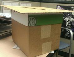 The Graduation Cap Card Box under construction!