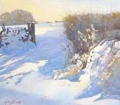 Robert Brindley Drifting snow Egton
