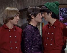 """Peter Tork, Micky Dolenz & Mike Nesmith in """"The Chaperone. Peter Tork, The Monkees, I Feel Good, Classic Rock, The Beatles, Chef Jackets, Tv Shows, Fandoms, Davy Jones"""