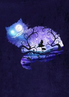 Cheshire Cat - Silhouette - Alice in Wonderland