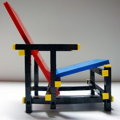Red / Blue Chair, by Gerrit Rietveld