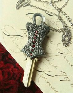 Corset Pendant Couture House Key from Victorian Trading Co.
