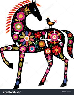 Find Horse Slovak Folk Ornaments stock images in HD and millions of other royalty-free stock photos, illustrations and vectors in the Shutterstock collection. Painted Horses, Bordado Popular, Primitive Folk Art, Primitive Snowmen, Primitive Crafts, Primitive Christmas, Country Christmas, Christmas Christmas, Folk Embroidery