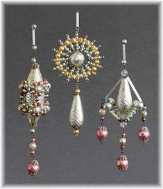 3 x Gablonz länge mit Beilagen um 1920 TOP Jugendstil Artdeco 3D anhänger | eBay Czech ornaments