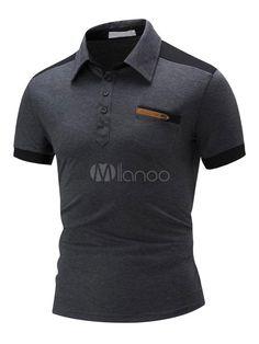 Camisa Polo, Gents T Shirts, Design Kaos, Polo Shirt Design, Sport Wear, Jacket Style, Dress Codes, Mens Suits, Shirt Designs