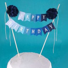 "Birthday Cake banner, Green Ombre ""Happy birthday"" cake bunting topper A022, birthday cake banner by Hartranftdesign on Etsy https://www.etsy.com/listing/246585036/birthday-cake-banner-green-ombre-happy"