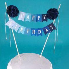 "Birthday Cake banner, Green Ombre ""Happy birthday"" cake bunting topper A022, birthday cake banner by Hartranftdesign on Etsy https://www.etsy.com/listing/246585036/birthday-cake-banner-green-ombre-happy"