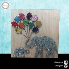 Elephants string art by  stringsmx                                                                                                                                                      More