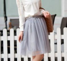 Retro Pure Color Simple Design Gauze Skirt Grey Gray Skirt, Simple Designs, Style Me, Midi Skirt, Pure Products, Retro, Grey, Skirts, Beautiful
