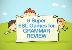 6 Super ESL Games for Grammar Review - Ready to review grammar skills? Try one of these fun grammar games! #esl #grammar