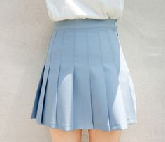 blue pleated skirt #pixiemarket #fashion @pixiemarket