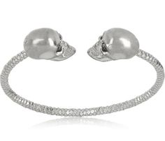 Alexander McQueen, Swarovski crystal double-skull bracelet.