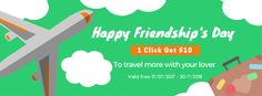 [Gift in Friendship's Day]  To celebrate The International Friendship's Day (30/07), GoAsiaDayTrip will give you $10 for each $80 tour coupon on your trip to Southeast Asia booked on our website, with one-year duration.   How to receive gift? Very easy! Just take 5 seconds.  Step1: Visit GoAsiaDayTrip at: https://www.facebook.com/goasiadaytrip  Step 2: Click Like Fanpage  And then you will get $10 for your trip.  .... You can use it for your future travel or give it for your lovers.