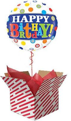 Birthday Band and Dots Inflated Balloon Gift Gifts For 18th Birthday, 21st Birthday, 60th Birthday Balloons, Balloon Gift, First Birthdays, 30th, Band, One Year Birthday, Sash