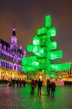 """We spent Christmas in Brussels the year of this """"Christmas three"""". LOL. Ugly during the day, but a great light show at night, but many Belgians were not too pleased with the change in tradition.  Don't think they did it again. :-)"""
