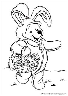 101 Best Easter Coloring Images On Pinterest Easter Eggs Coloring