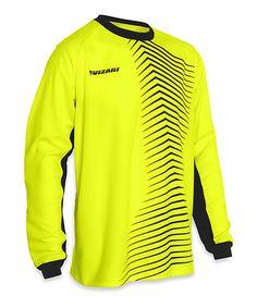 Look at this Vizari Yellow & Black Novara Goalkeeper Jersey - Kids & Adult on #zulily today!