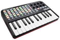 Akai Professional APC Key 25 - USB MIDI Keyboard Controller featuring 25 Piano Style Keys, 40 Buttons and 8 Assignable Encoders, for Ableton Live Ableton Live, Midi Keyboard, Keyboard Piano, Drum Pad, Music Software, Drum Machine, Hardware, Clips, Musical Instruments