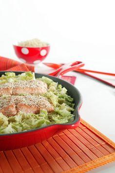 Groene kool met vis en quinoa #Avogelrecepten