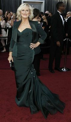 Glenn Close At Red Carpet In 2012 For Oscars 2012 When Was Nominated For Best Actress For Albert Nobbsツ❤