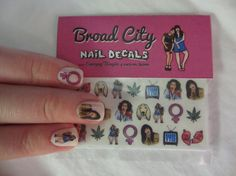 Broad City Nail Decals by laurenjadejewelry on Etsy