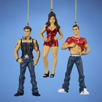There is a God! Jersey Shore Ornaments!! Snooki, Pauly D, and The Situation
