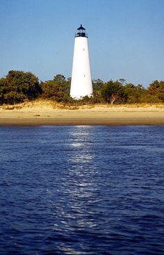 Georgetown Lighthouse, South Carolina. Only accessable by boat. Beautiful