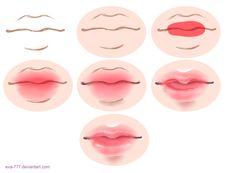 The lesson lips draw sai by EVA-777 on DeviantArt