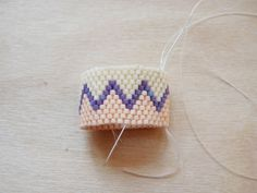 Make This - Beaded rings using a peyote stitch