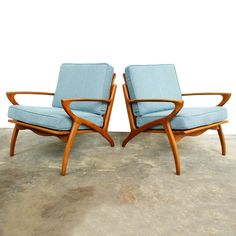 My design inspiration: Danish Modern Lounge Chairs on Fab. Danish Modern Furniture, Mid Century Modern Furniture, Modern Chairs, Retro Chairs, Blue Chairs, Midcentury Modern, Danish Interior, Minimalist Furniture, Accent Chairs