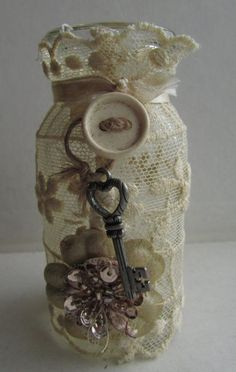 Shabby Chic Bottle Ornaments from old salt and pepper shakers- these are great inspiration to make some of your own. Description from pinterest.com. I searched for this on bing.com/images