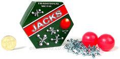 Playing jacks was always a fun way to pass a rainy afternoon . . .