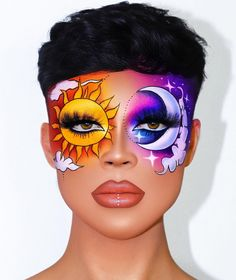 halloween makeup ideas eye makeup ideas ideas for eyes makeup ideas makeup ideas halloween makeup ideas clown makeup ideas ideas natural Cool Makeup Looks, Crazy Makeup, Cute Makeup, Pretty Makeup, Maquillage Halloween, Halloween Makeup, Halloween Halloween, Halloween Costumes, Make Up Looks