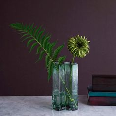 Clean and modern vase by the danish brand Holmegaard Flower Vases, Flower Pots, Source Of Inspiration, Vases Decor, Cut Flowers, Hand Blown Glass, Geometric Shapes, Designer, Colours