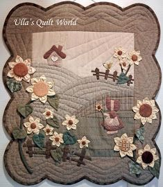 Sue Bonnet quilt - wall hanging