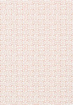 "TAZA, Coral, T35168, Collection Graphic Resource from Thibaut.  25.25"" repeat.  looks like 2 or 3""."