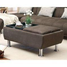 Coaster Fine Furniture Modern Brown Microfiber Ottoman 300278 #coasterfurniturebrown #coasterfurniturebeds