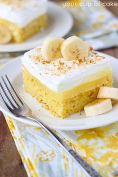 Easy Banana Pudding Poke Cake