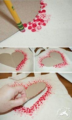 hart sjabloon stempelen