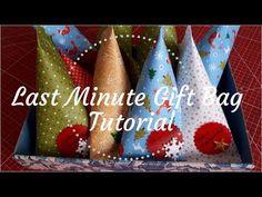 Last Minute Gift Bag Tutorial Last Minute Gifts, Tableware, Youtube, Bags, Bag Tutorials, Handbags, Dinnerware, Dishes, Totes