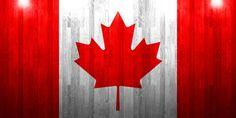 canada flag on wooden board