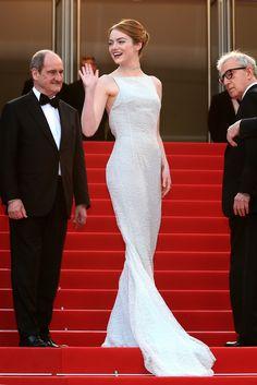 Emma Stone In Christian Dior Haute Couture at the Cannes Film Festival.   - ELLE.com
