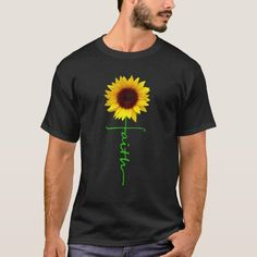 Christian Faith Cross Sunflower Christmas Gift Men T-Shirt - tap/click to personalize and buy #TShirt  #faith #cross #sunflower #christian #women Dachshund Shirt, Dachshund Gifts, Christmas T Shirt Design, Orange Sunflowers, Leukemia Awareness, You Are My Sunshine, Tshirt Colors, Shirt Style, Colorful Shirts